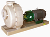 The Fybroc 1600 series Fibreglass self priming centrifugal pumps