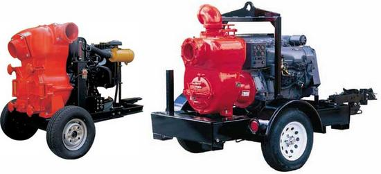 D:   Trailer mounted Sewage / Trash pumps