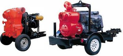 D:   Trailer mounted Sewage / Trash pumps